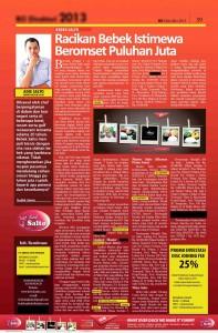 Publikasi Tabloid Bisnis di Indonesia Yang Meliput Kesuksesan Bebek Salto Sebagai Salah Satu Waralaba Nasional Yang Kompetitif & Inovatif di Bisnis Kuliner Di Indonesia